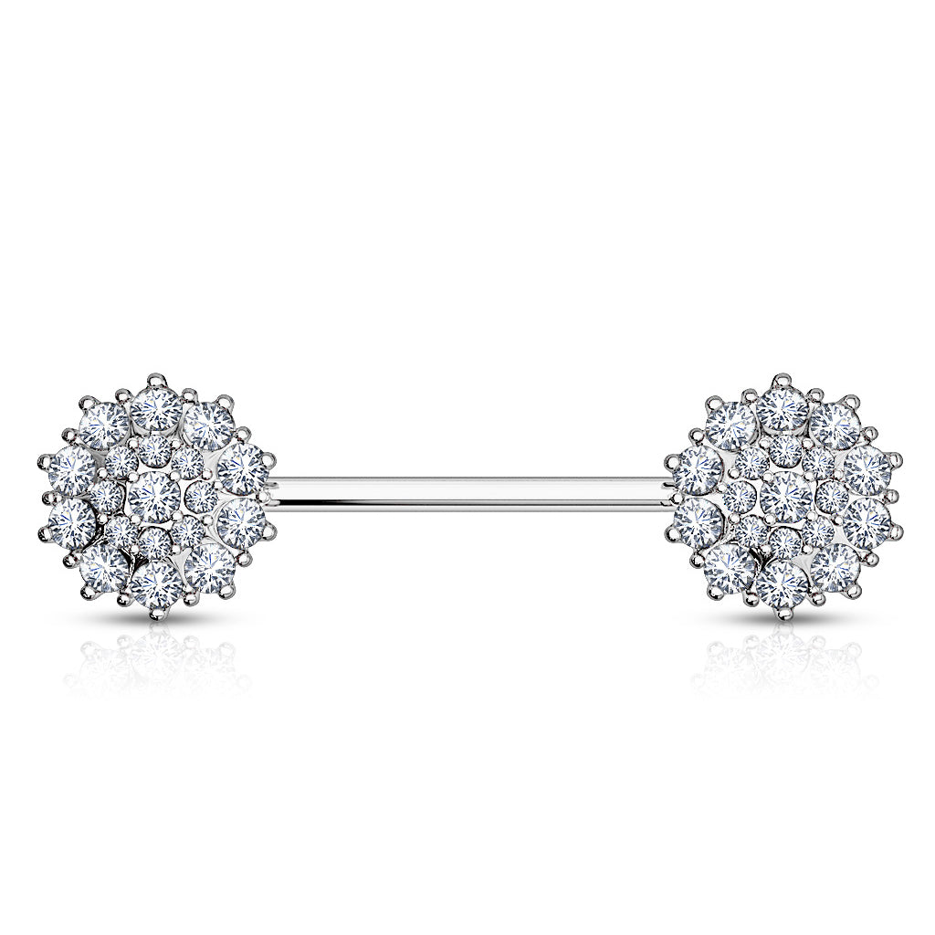 14K White Gold Glitz Nips Nipple Ring - Nipple Ring. Navel Rings Australia.