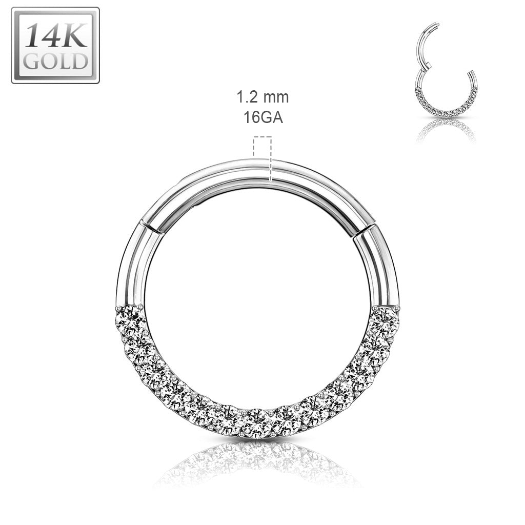 Septum. Belly Bars Australia. Motley™ Septum & Daith Hoop in 14K White Gold