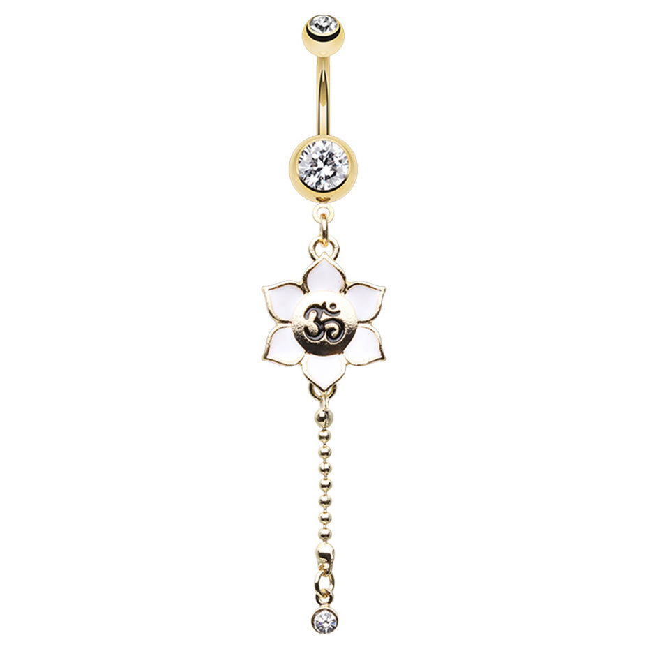 Yogachara Bloom Treasure Belly Ring - Dangling Belly Ring. Navel Rings Australia.