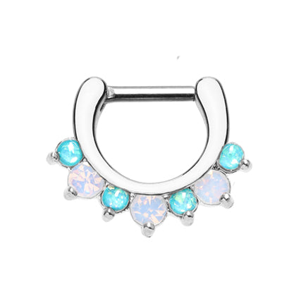 Ximena Opal Gem Septum Clicker - Septum. Navel Rings Australia.