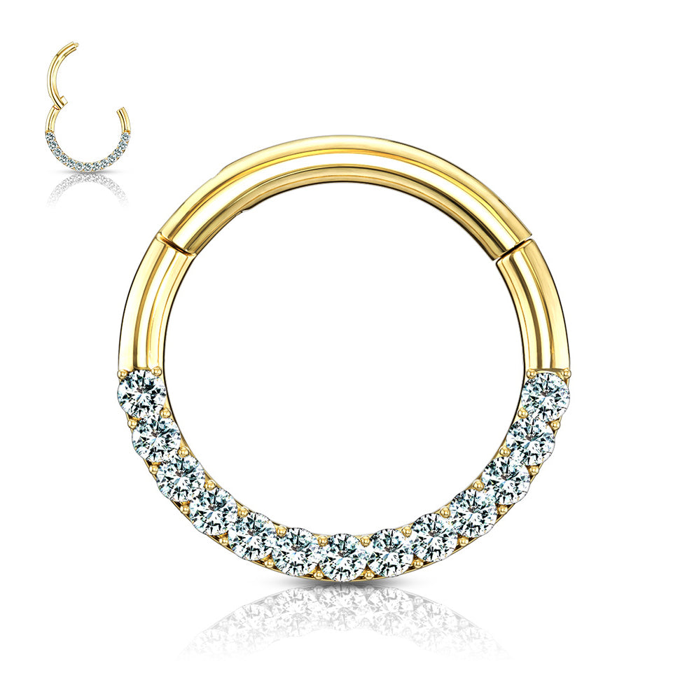 Motley™ Septum & Daith Hoop in 14K Gold - Septum. Navel Rings Australia.