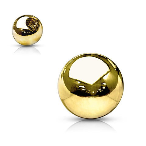 14K Gold Externally Threaded Belly Ring Replacement Balls - No Gems - Replacement Ball. Navel Rings Australia.