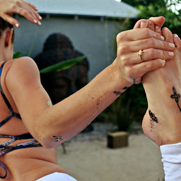 YogaLust by Flash™ Tattoos ... Namaste Babes! - Temporary Tattoo. Navel Rings Australia.