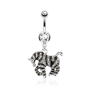 Hot to Trot Zebra Belly Bar - Dangling Belly Ring. Navel Rings Australia.