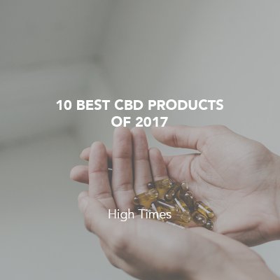 10 Best CBD Products Of 2017