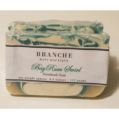 Bay Rum Swirls - Men's Soap - Branche Basu Boutique