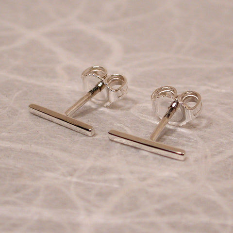 10mm sterling silver bar studs high polish