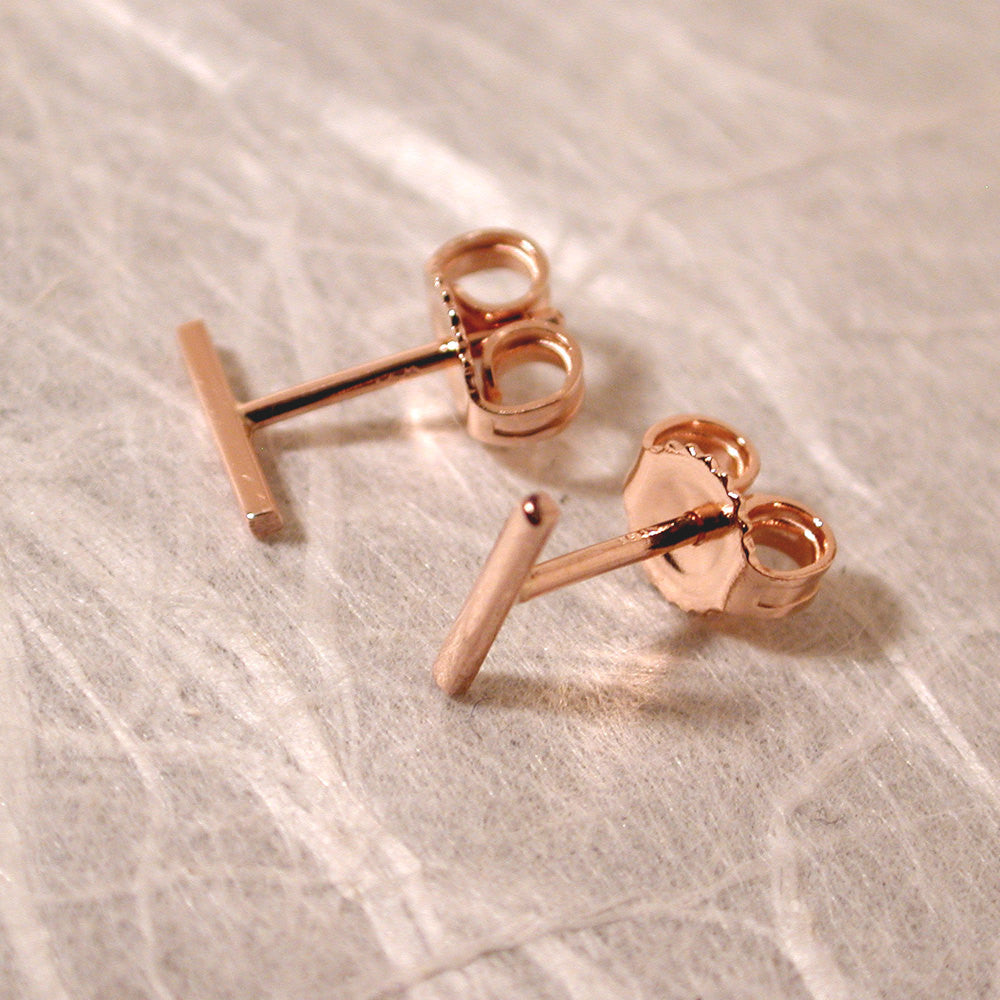 wanelo gold earring shop earrings single bar on stud curved diamond