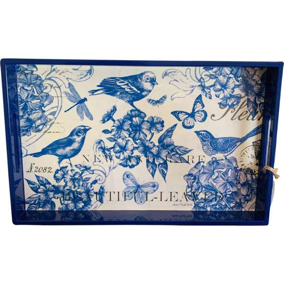 Blue bird serving tray with gourmet treat