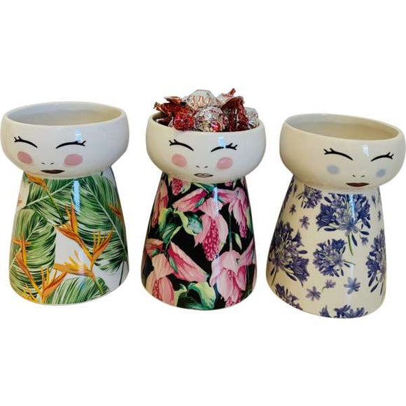 Ceramic Doll vases