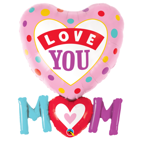 Shape love you mum with dots - Gifts2remember