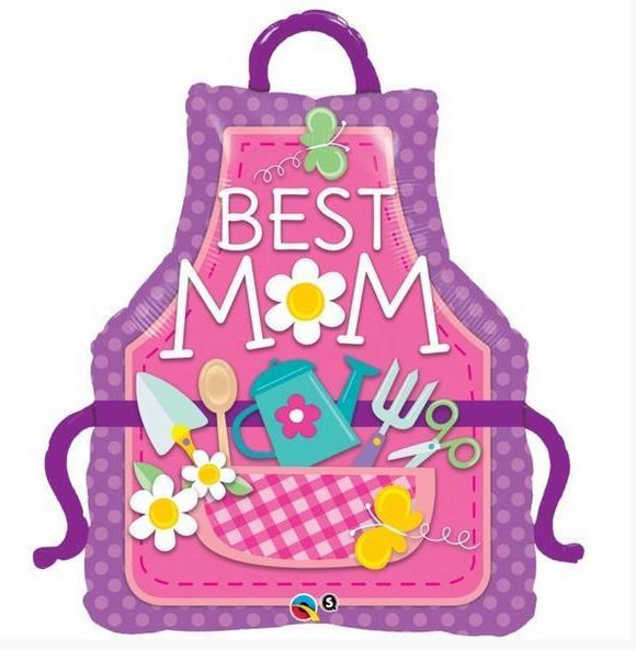 Best Mum shaped Apron Balloon - Gifts2remember