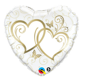 Entwined Hearts Balloon - Gifts2remember