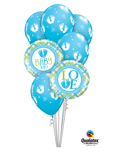 Baby Boy Balloon Bouquet - Gifts2remember