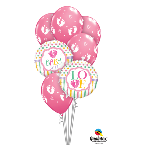 Baby Girl Balloon Bouquet - Gifts2remember