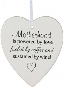 Motherhood Ceramic Hanging Heart - Gifts2remember
