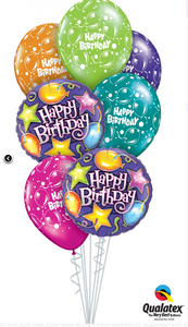 Bright Happy Birthday Balloon Bouquet