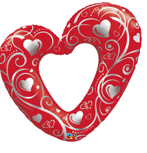 Red Shaped Heart Foil Balloon