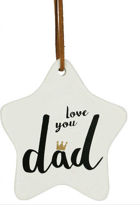 Love You Dad hanging Star