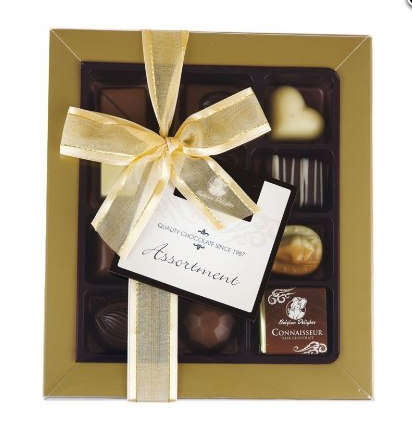 Belgian Delights Chocolate Assortment Gift Box 15 pack Gluten & Alcohol Free