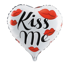Foil Balloon Heart Kiss Me
