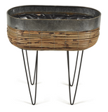 Iron Rattan Planter with legs