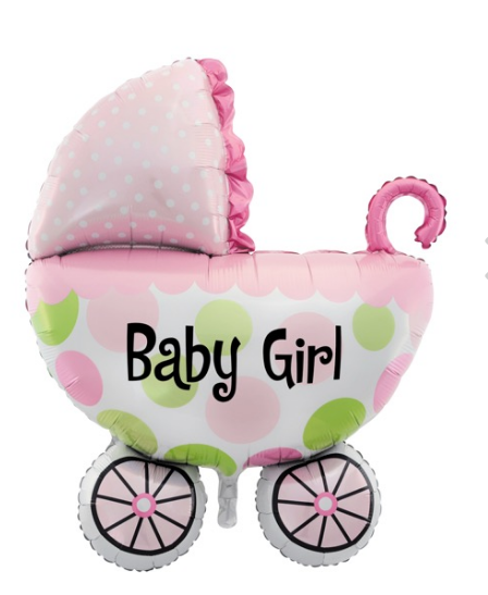 Baby Girl Pram Balloon - Gifts2remember