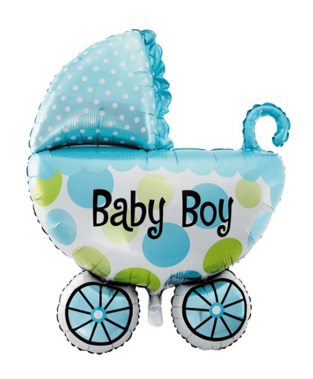 Baby Boy Pram Balloon - Gifts2remember