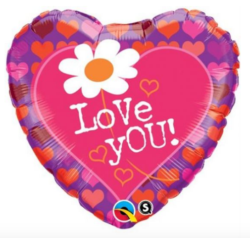 Love you Daisy Balloon - Gifts2remember