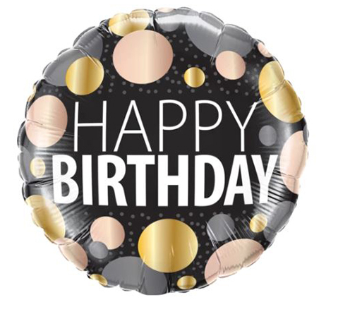 Happy Birthday Big Metallic Dots - Gifts2remember