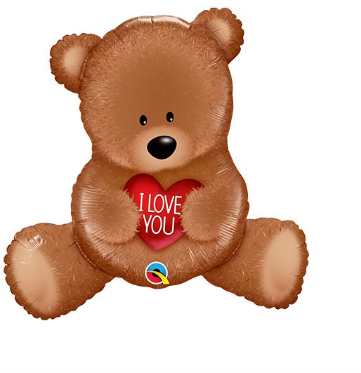 I Love You Teddy Bear Balloon - Gifts2remember