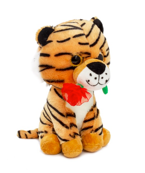 Papo Tiger with red rose