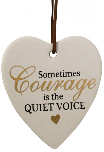 Courage Hanging Hearts - Gifts2remember