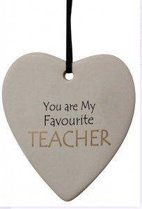 You Are My Favourite Teacher Hanging Heart - Gifts2remember