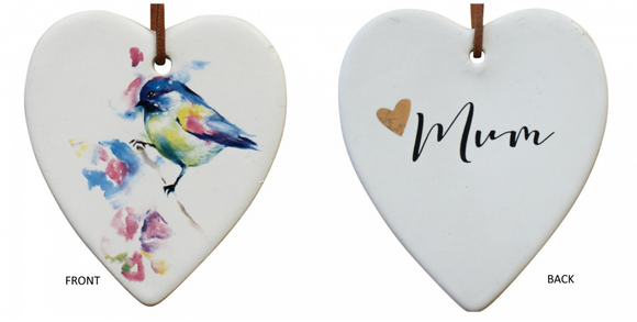 Mum Ceramic Hanging Heart - Gifts2remember