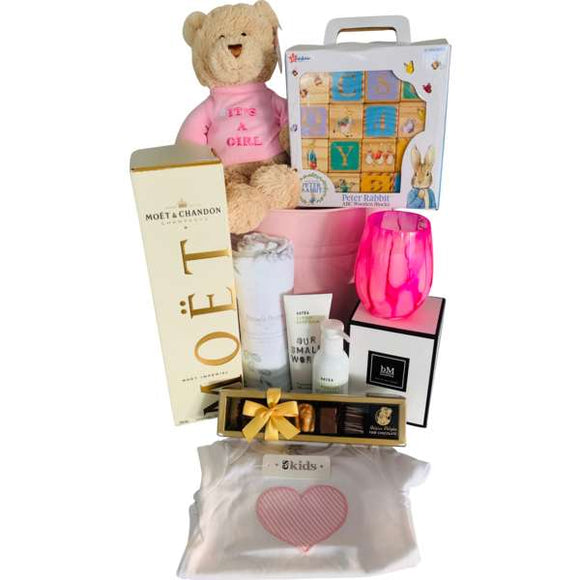 Sweet Hearts Baby Girl Gift Hamper - Gifts2remember
