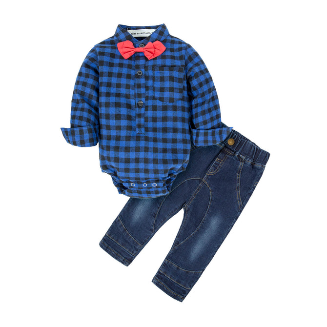 Baby Boys Shirt & Jeans Clothing Set