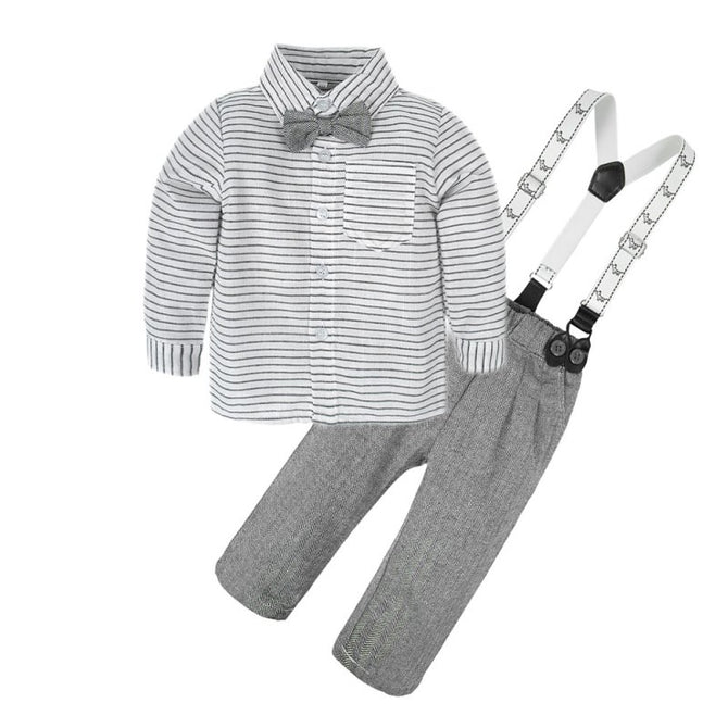 dc09961a8e05 Baby Boys Long Sleeve Dresses Shirt Pants Bowtie Clothes Set – Agudan