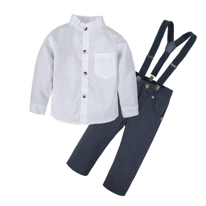 bd6b83844d7b Baby Boy Dresses Shirt and Suspender Shorts Clothing Set – Agudan