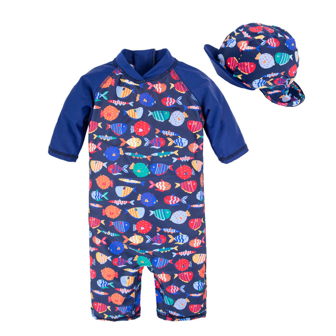 Kids Baby Boys Anti UV All-in-One Swimwear Q68