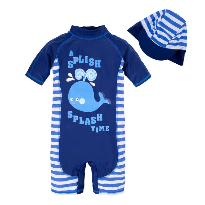 Kids Baby Boys Anti UV All-in-One Swimwear Q67