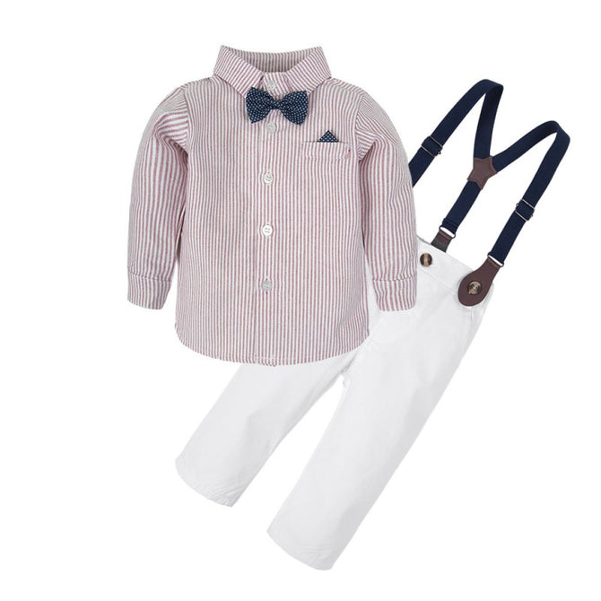 d59dc4711210 Baby Boy Long Sleeve Dresses Shirt Clothes Set and Pants Suit – Agudan