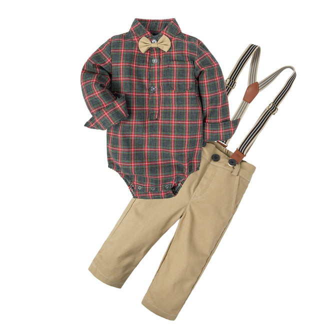 Baby Boys' Classical Tartan Check Clothing Sets NA13