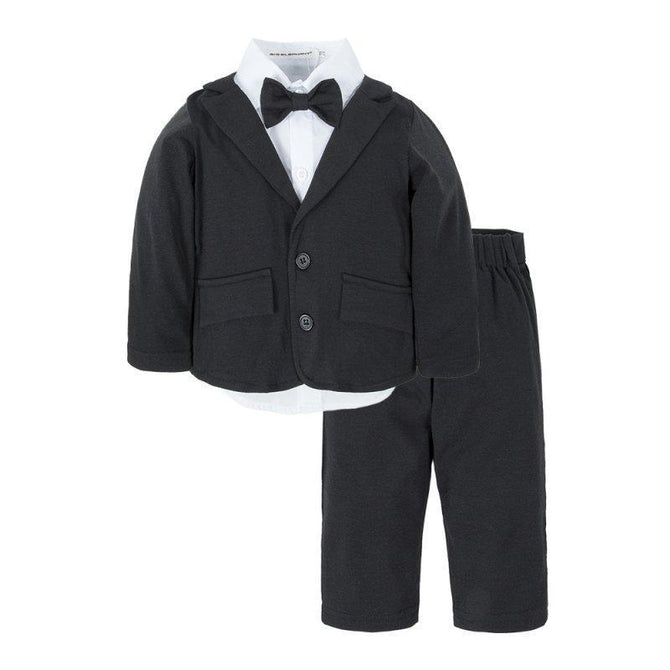 5d89db776879 Baby Boys 3 Piece Long Sleeve Dress Pants Clothing Set Black – Agudan