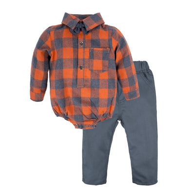 Baby Boys Shirt Pants Set with Bowtie