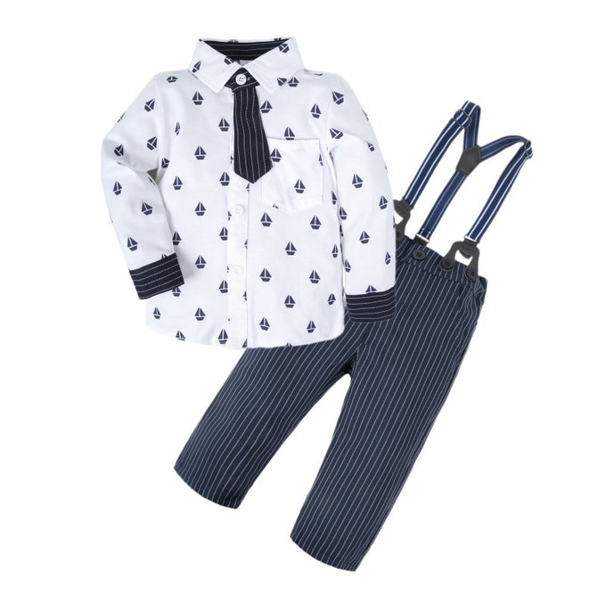 Baby Boys Long Sleeve Shirt Pants Set U18