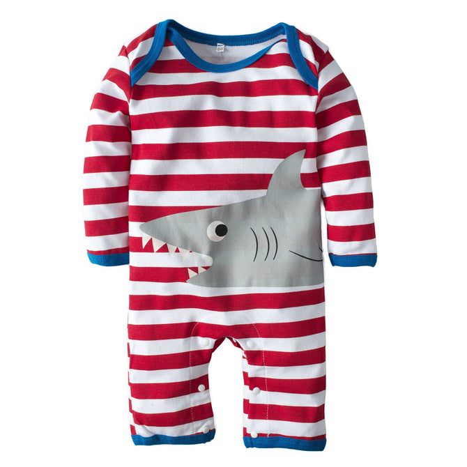 12c7bb6ace1 Baby Boys  One Piece Graphic Long Sleeve Romper Pajama – Agudan