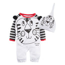 Baby Boys Animal Print Romper Pajama with Hat