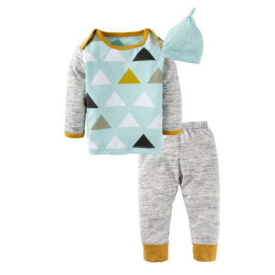 Baby Boys Tops Pants Clothing Set Pajama with Hat-[40% OFF CODE: BG40--TODAY ONLY]