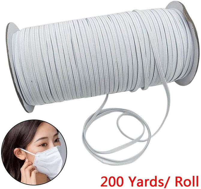 200 Yards Length Flat Elastic Band for Sewing Craft DIY